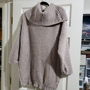 Taupe baggy cowl neck sweater